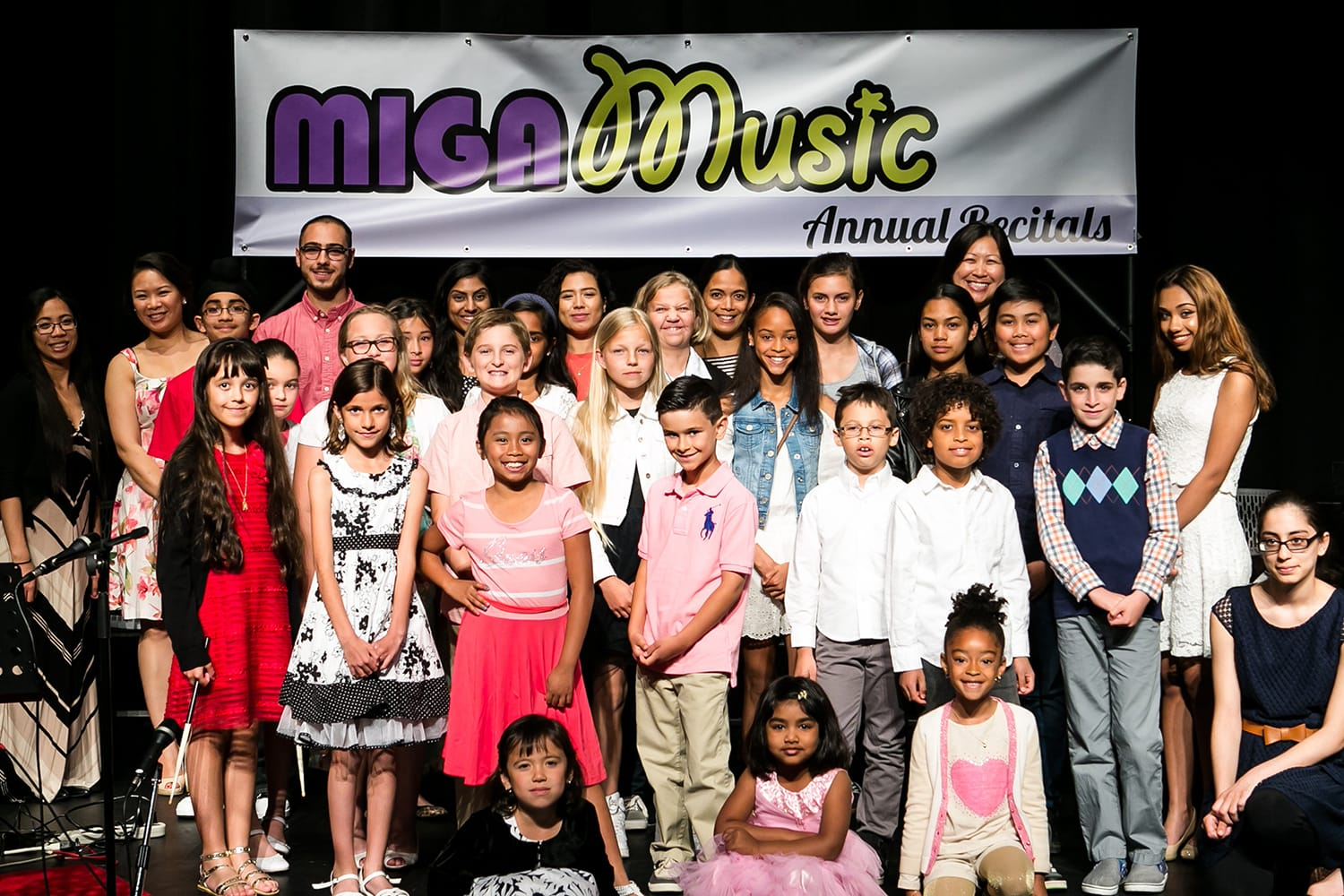 Group photo of our Students and Teachers at the 2016 MIGA Music Recitals