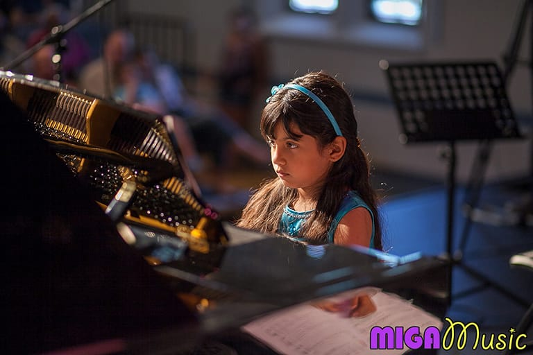 MIGA Music piano student Jessica at our Recitals